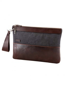 Way Canvas Pelle Horizontal Clutch