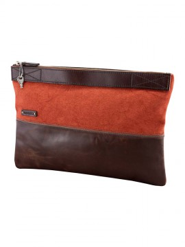 Take Canvas Pelle Horizontal Clutch