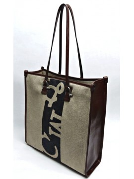 Square V Linum Bag